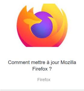 Tutoriel mise à jour FireFox
